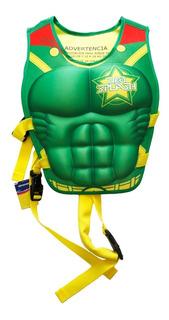 Flotador Niño Super Neohero Green Man De Neo Splash