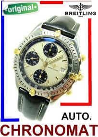 Breitling Chronomat Panda Aço Ouro Revisado Ref B13047 !