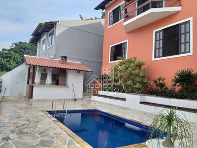 Casa Com 4 Dormitórios Para Alugar, 263 M² Por R$ 4.100,00/mês - São Francisco - Niterói/rj - Ca0972