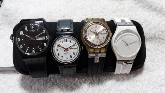 Relógios Swatch - Coleção Com 4 Peças !