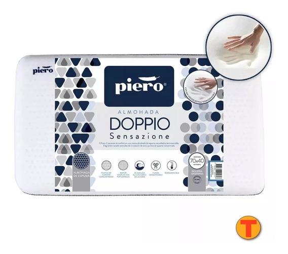 Almohada Piero Doppio Sensazione 70x40 Viscoelastica 70 X 40