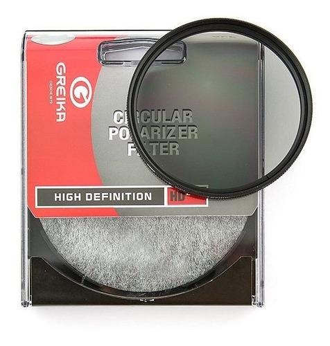 Filtro Polarizador Circular Greika 58mm Garantia Novo