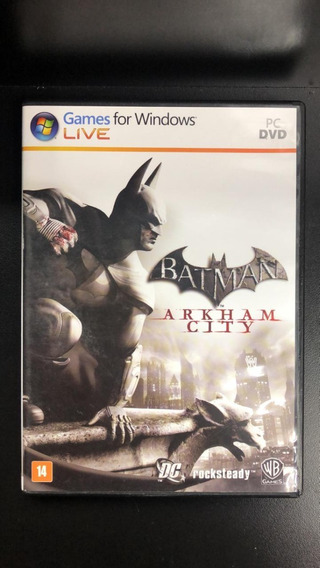 Batman Arkham City Pc Mídia Física Seminovo