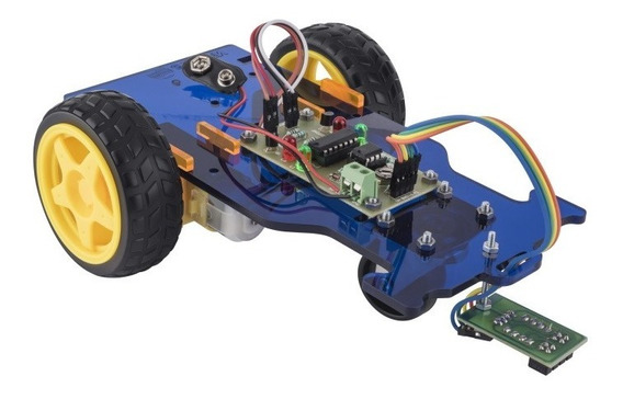 Kit Robot Seguidor Línea Armar Rotulada Escolar Steren K-905