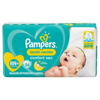 Pañales Pampers Confort Sec Rn + 3 A 6 Kg X 56 U.