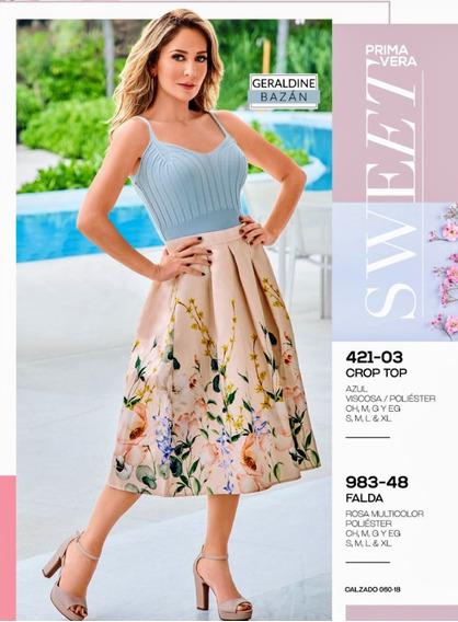 Falda Rosa Multicolor 983-48 Cklass Primavera-verano 2020