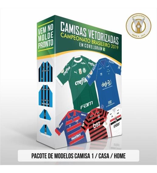 Vetores Coreldraw Camisas 1 Brasileirão 2019 Série A