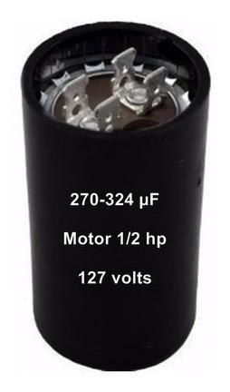Capacitor Eletrolitico 270/324 110v Motor 1/2 Hp