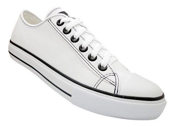 Tênis Converse All Star Couro Sintético Branco Frete Gratis