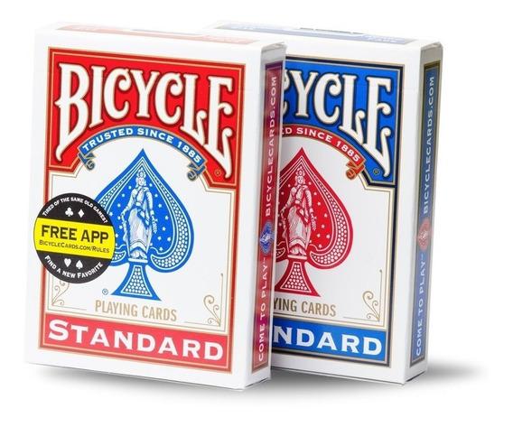 2 Baralhos Bicycle Standard - Azul E Vermelho (2 Unidades)