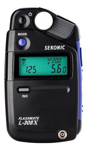 Imagen 1 de 10 de Fotometro Sekonic Flashimetro Luxometro L-308x P/ Flash Cine