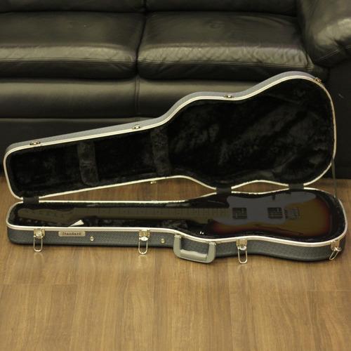 Hard Case Estojo Luxo Standard Para Guitarra Cinza