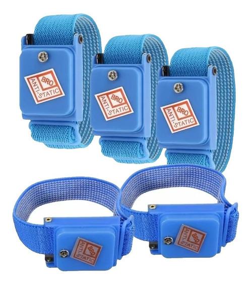 Kit Com 5 Pulseiras Proteção Anti Estática Sem Fio Esd Pro