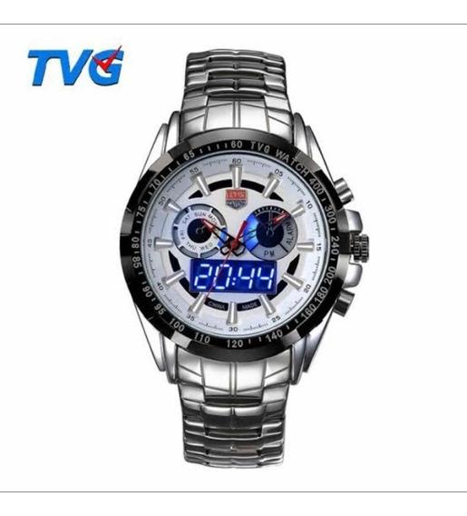 Relógio De Luxo Tvg Seals Elite Masculino Led Promoção Top