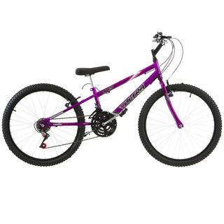 Bicicleta Aro 24 18 Marchas V- Brake Lilás Ultra Bikes