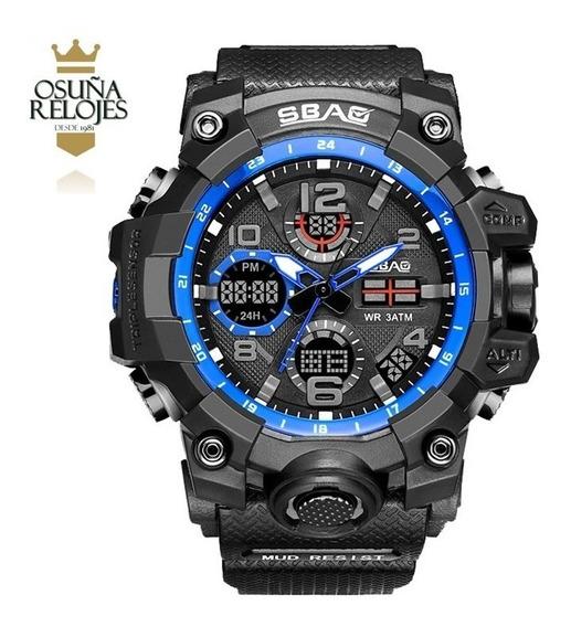 Relógio Masculino Militar Shock Esportivo Digital Sbao