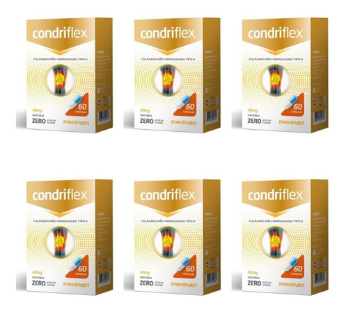 Imagem 1 de 1 de Maxinutri Condriflex Colágeno 40mg C/60 (kit C/06)