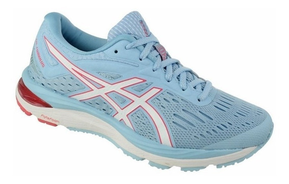 Tenis Feminino Asics Gel Cumulus 20 Azul/branco/rosa