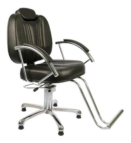 Imagem 1 de 4 de Cadeira Milla Reclinavel Barbeiro - Moveis Salão Beleza