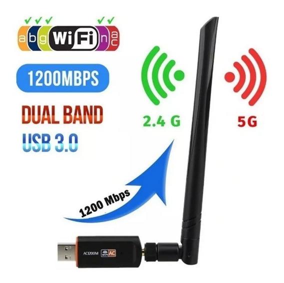 Adaptador Wireless Dual Band Ac 1200 Mbps 2.4 / 5ghz Usb 3.0