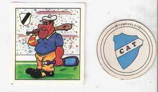 Temperley 2 Figuritas. Escudo. Golazo 80- Futbol
