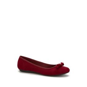 Flat Andrea Mujer Color Vino Tipo Ballerina 2524429
