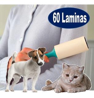 Rodillo Quita Pelos 60 Laminas Gatos Perros