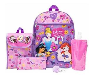 Disney Princesa Juego De Mochila Para Niña 6 Piezas Diseño D