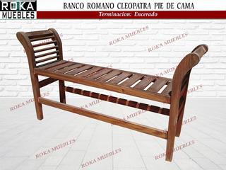 Banco Romano Cleopatra Pie De Cama 1.30 Encerado Roka