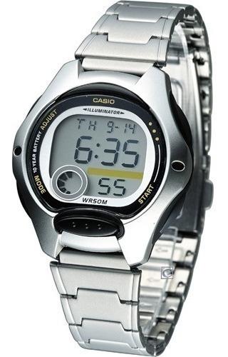 Relógio Casio Feminino Lw 200 Preto Aço Prova Dágua 50 Mtrs