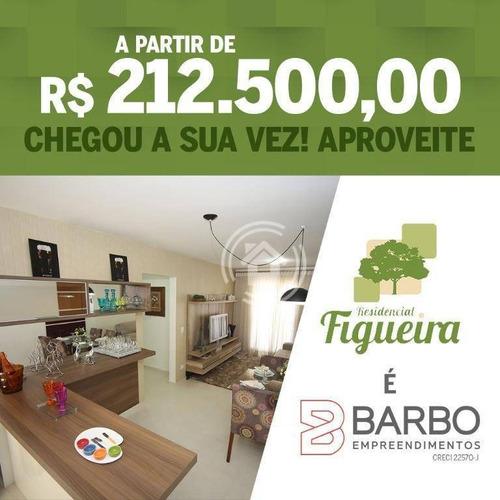 Apartamento Com 3 Dormitórios À Venda, 70 M² Por R$ 212.500,00- Dois Córregos - Piracicaba/sp - Ap0417