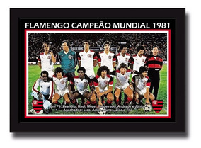 Poster Personalizado 34x44 Cm Flamengo Campeão 1981
