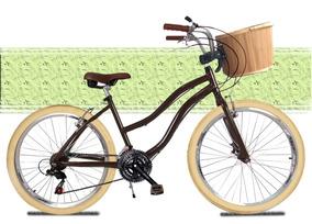 Bicicleta Retrô Alumínio Bike Vintage Retro