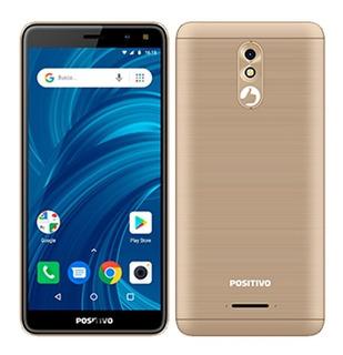 Smartphone Positivo Twist Pro, Dual Chip, Dourado, Tela 5.7
