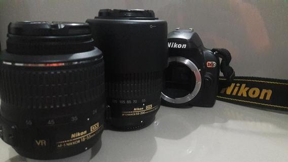 Nikon D60 + Lentes+ Case