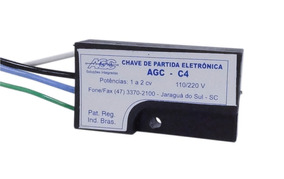 10 Partida Eletrônica Agc C4 1 A 2 Cv 110/220v