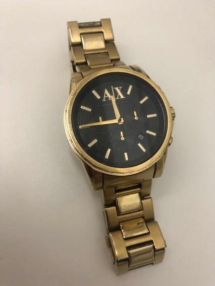 Relógio Armani Exchange Ax Dourado Masculino
