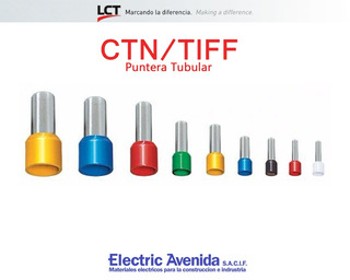 Terminales Puntera 2.5mm Tiff Ctn Pack X 100 Unidades Lct