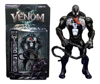 Muñeco Venom Articulado De Goma 16 Cm Spiderman Hombre Araña