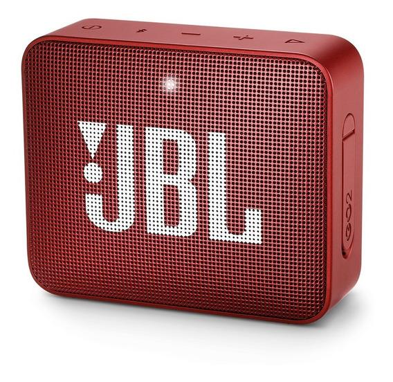Caixa De Som Jbl Go2 Portátil 3w Red Bluetooth - Original