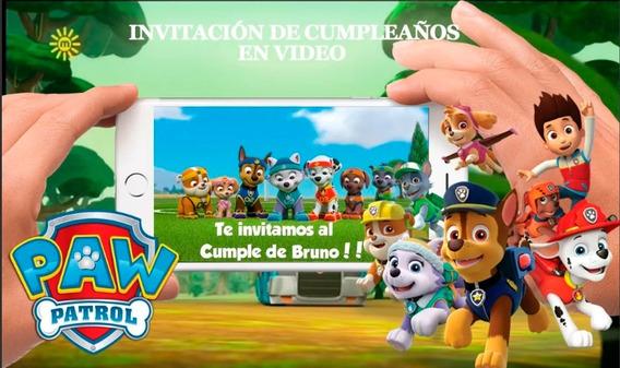 Video Invitación Cumpleaños! Paw Patrol!!!