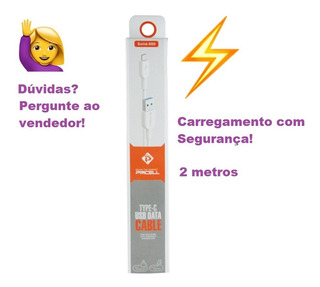 Cabo Usb Tipo C Pmcell 2mt