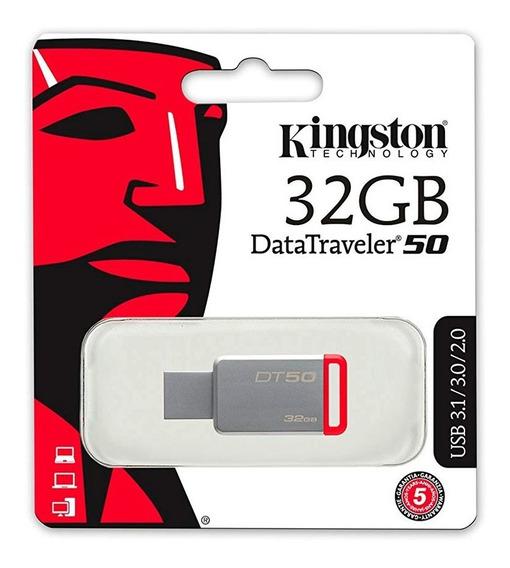 Pendrive Kingston 32gb Usb 3.0 Dt50-rojo - Kingston