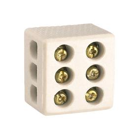 Conector De Porcelana 25a Tripolar 10mm