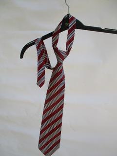Corbata Color Burdeo A Rayas Marca Francisco Brossi