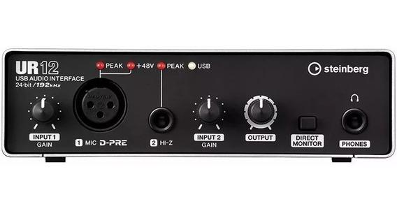 Interface Audio Usb Steinberg Ur12 2 Canais - Garantia