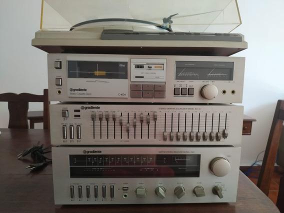 Conjunto Gradiente Model 1360 C-404 Tape Deck Completíssimo