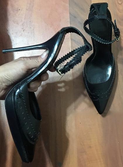Increíbles Zapatos Tacones Burberry Negros De Temporada 24!!