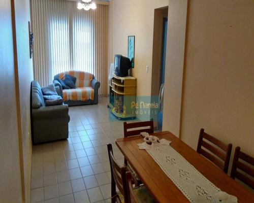 Imagem 1 de 14 de Apartamento Com 2 Dormitórios, 1 Suíte, Sacada, 1 Vaga, Churrasqueira, À Venda, 78 M² Por R$ 320.000 - Canto Do Forte - Praia Grande/sp - R2f602a - Ap0085