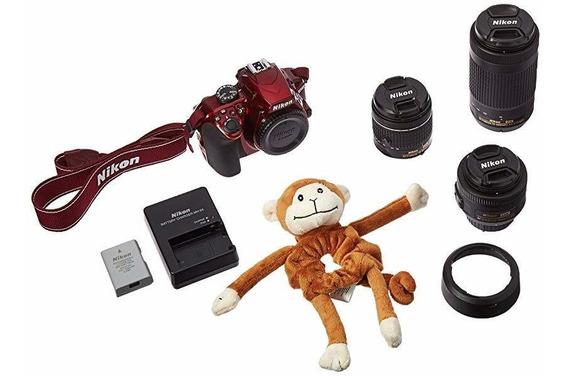 Camara Nikon D3400 24.2 Mp Triple Lente Ultimate Parent